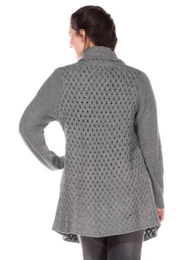 Sheego Casual Sweater, Shawl Collar Softly Falling