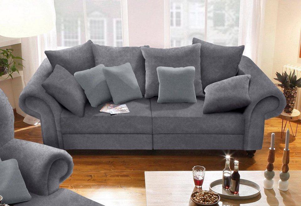 home affaire big sofa king henry in legerer polsterung und vielen losen kissen inklusive. Black Bedroom Furniture Sets. Home Design Ideas