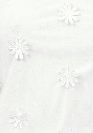 Aniston Spaghettitop, mit Blüten-Applikationen