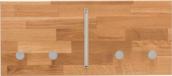 Home affaire Hakenleiste »Dura«, aus schönem massivem Wildeichenholz, Breite 50 cm