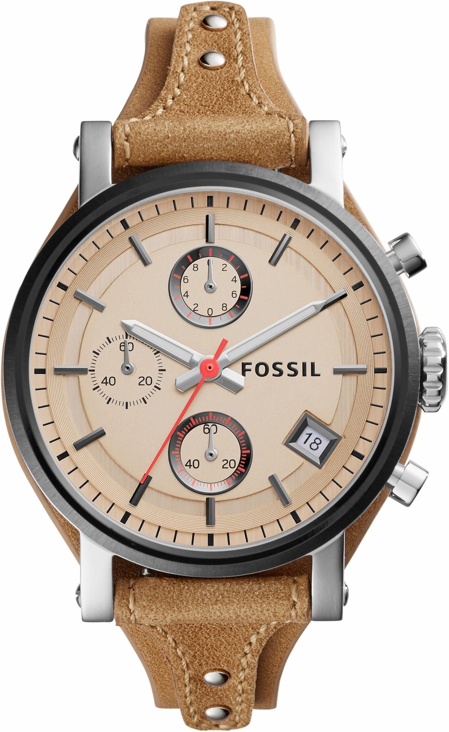 Fossil Chronograph »ORIGINAL BOYFRIEND, ES4177«, mit Leuchtzeiger