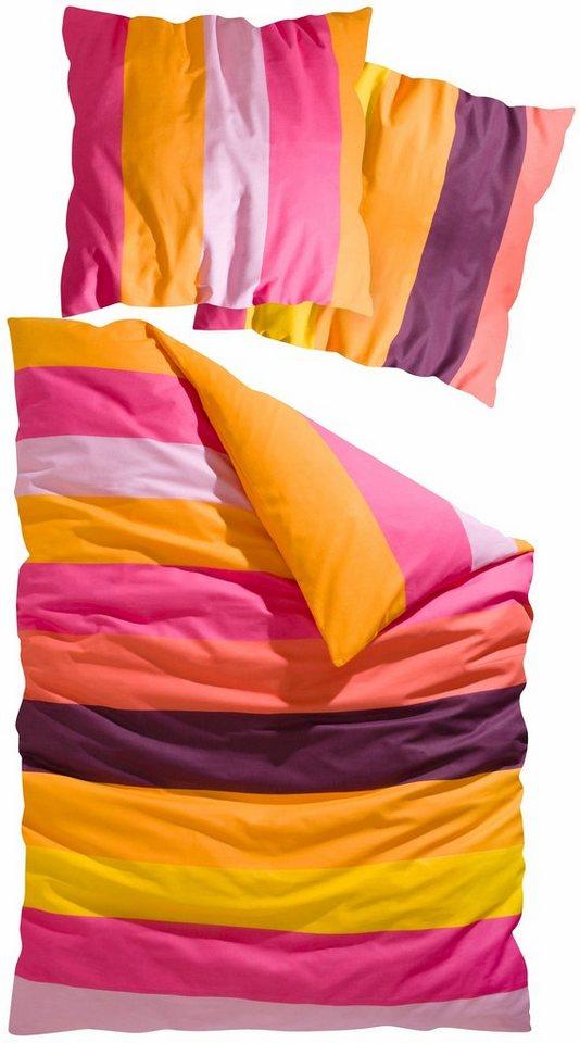 bettw sche bura my home mit knallig bunten streifen online kaufen otto. Black Bedroom Furniture Sets. Home Design Ideas