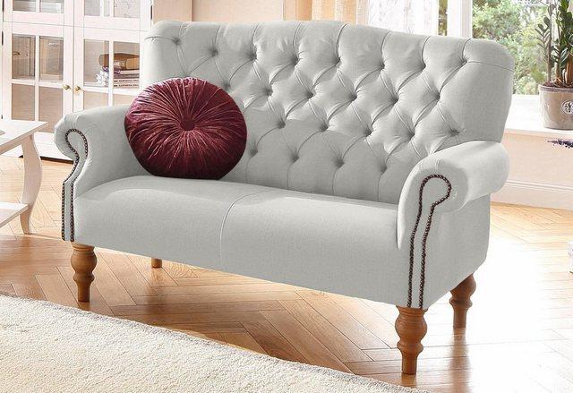 Sofas - Home affaire 2 Sitzer »Lord«, mit echter Chesterfield Knopfheftung und Ziernägeln  - Onlineshop OTTO