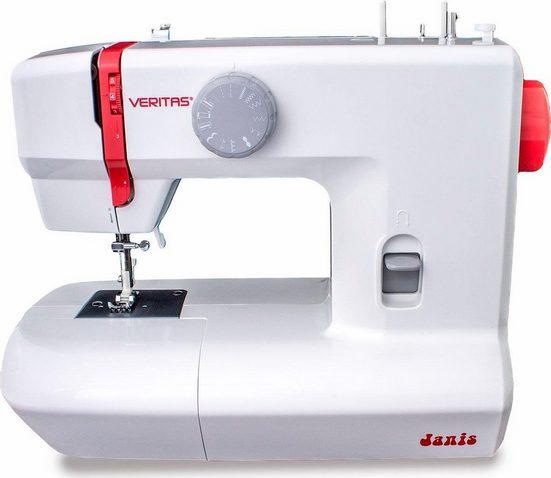 Veritas Nähmaschine Janis, 12 Programme, 4 Stufen-Knopflochautomatik