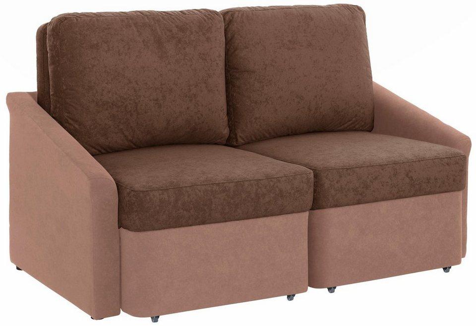 Home affaire 2-Sitzer mit Schlaffunktion »Sleepy« in braun