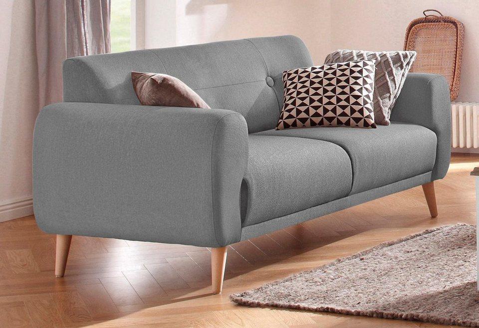 Home affaire 2-Sitzer »Skagen«, mit edler Steppung im Rücken in grau