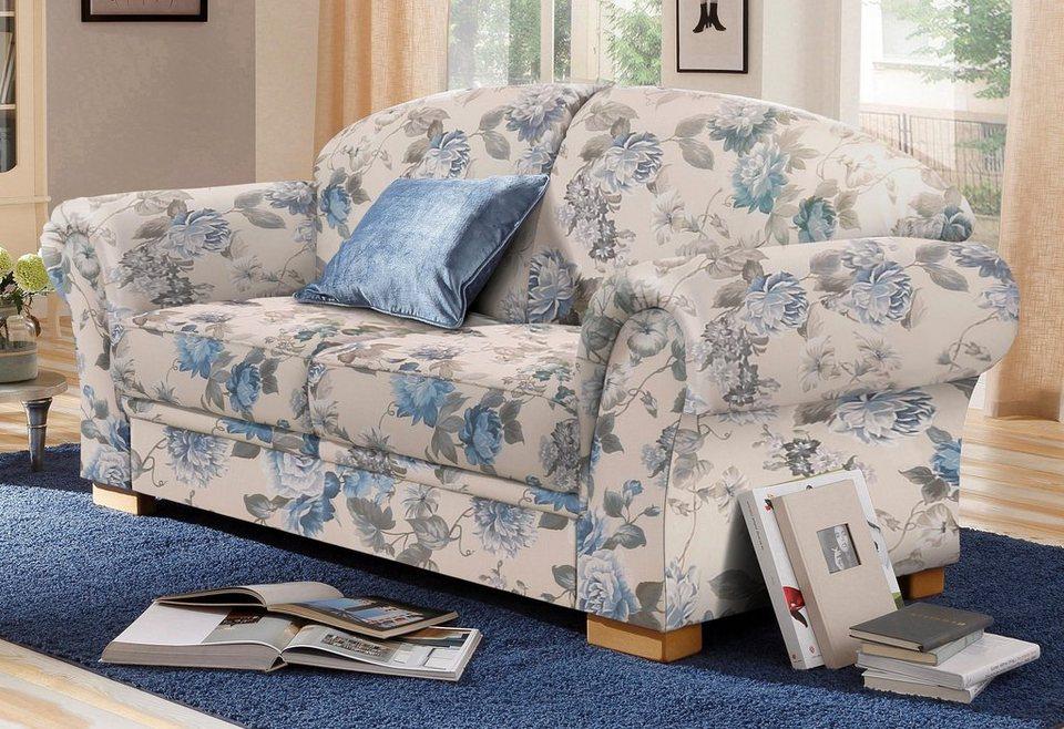 home affaire 2 sitzer amrum mit blumenmuster mit federkern online kaufen otto. Black Bedroom Furniture Sets. Home Design Ideas