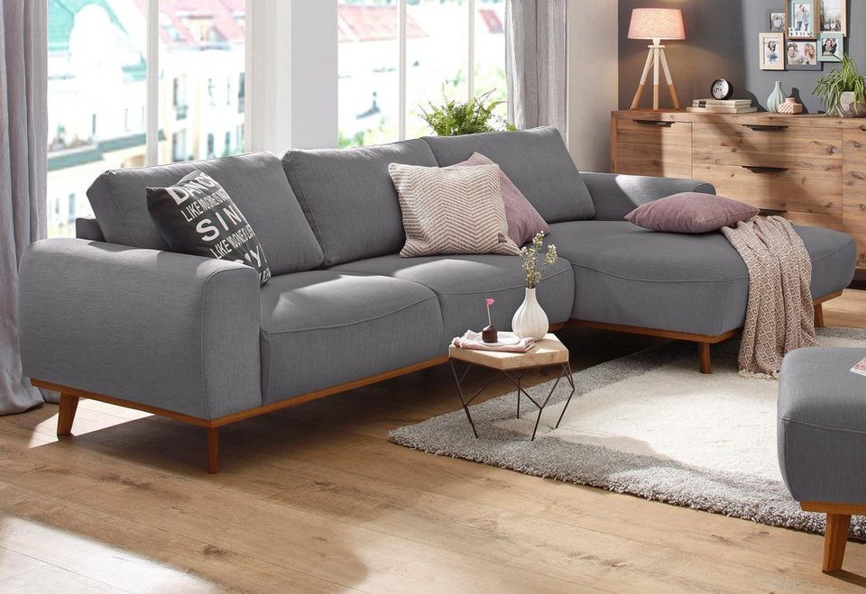 home affaire ecksofa gabrielle mit holzrahmen im eleganten skandinavischen design online. Black Bedroom Furniture Sets. Home Design Ideas