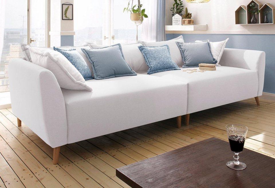 home affaire big-sofa »scotland« mit holzfüßen | otto, Hause deko