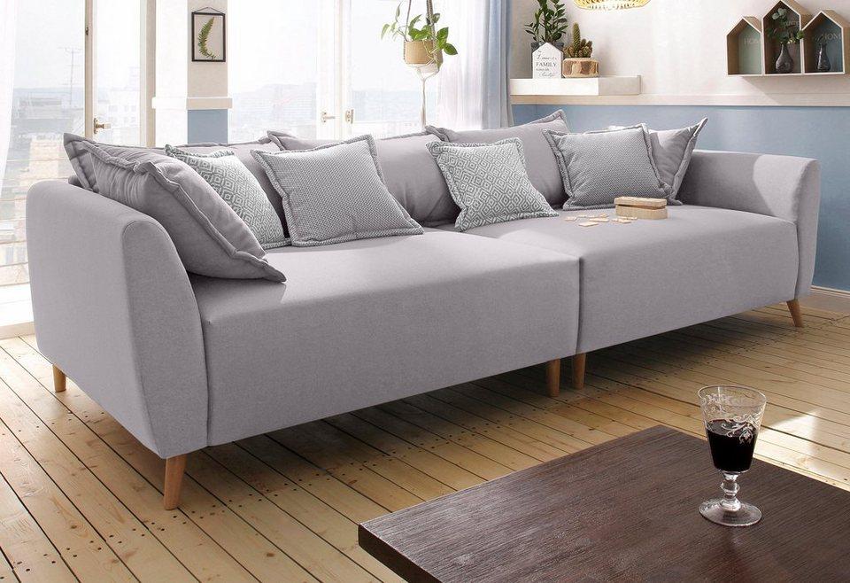 Home affaire Big-Sofa »Scotland« mit Holzfüßen | OTTO