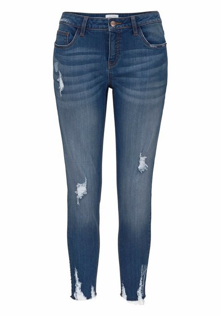 Hosen - Aniston CASUAL Skinny fit Jeans mit Destroyed Effekt › blau  - Onlineshop OTTO