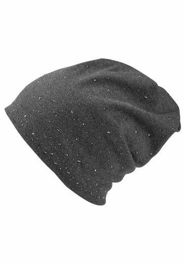 J.Jayz Beanie (1-St) Jersey-Mütze mit Glitzernieten, Jahreszeiten allrounder