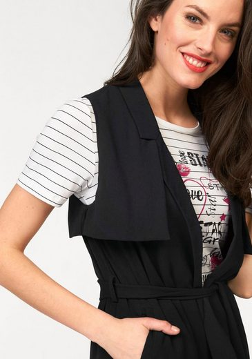 Aniston Longweste, Im 2-en-1-look