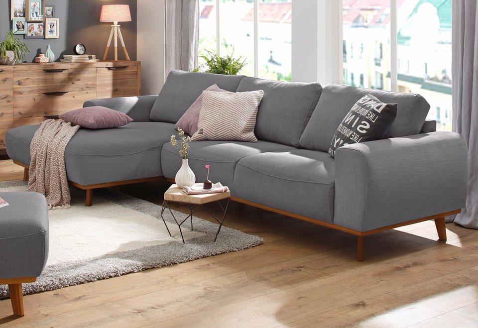 Home Affaire Ecksofa Gabrielle Mit Holzrahmen Im Eleganten Skandinavischen Design Online Kaufen Otto