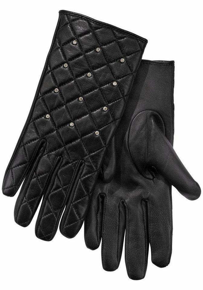 J.Jayz Lederhandschuhe mit Steppnähten | Accessoires > Handschuhe > Lederhandschuhe | Schwarz | J.Jayz