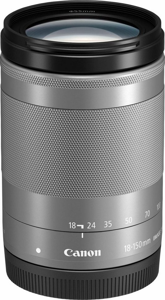 Canon EF-M 18-150mm 1:3,5-6,3 IS STM Standardzoom Objektiv in silberfarben