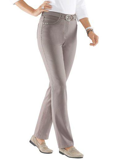 Collection L. Jeans mit Stickerei und Nieten