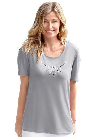 Classic Basics Shirt mit prächtiger Steinchen-Verzierung