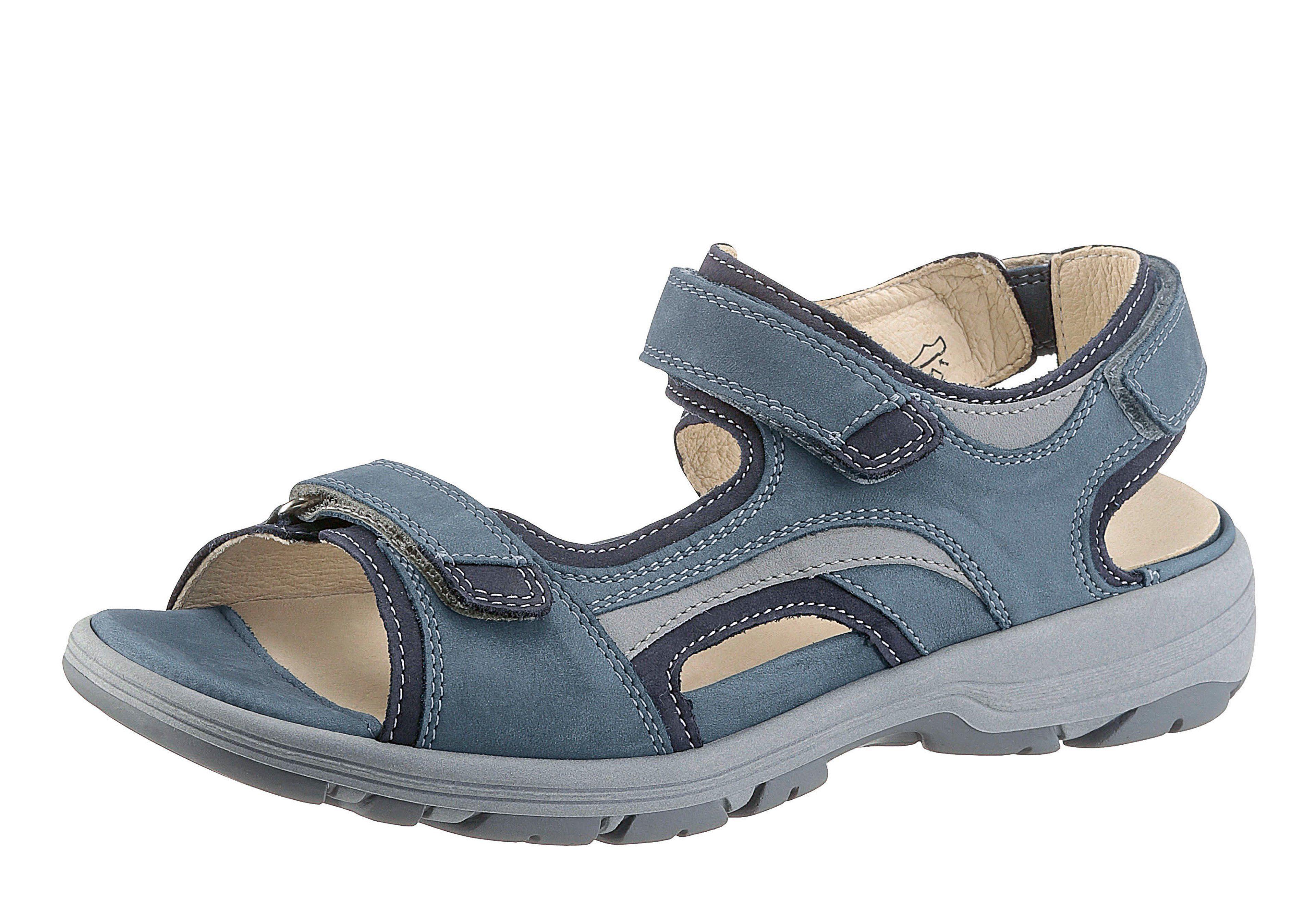 Waldläufer Sandale mit gepolstertem Wechselfußbett  blau