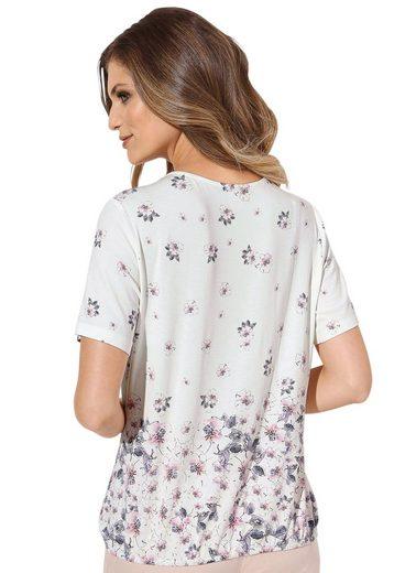 Lady Shirt mit Gummizug im Saum