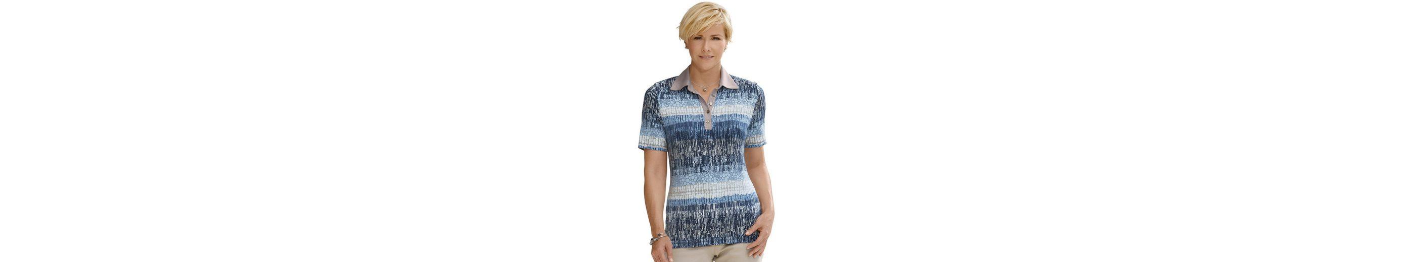 Collection L. Shirt mit einfarbigem Polokragen