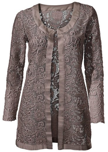 Fair Lady Pointed Satin Jacket With Shimmering Dazzle