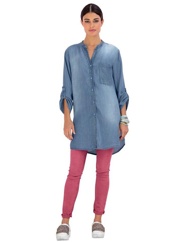 Alba Moda Push-up-Jeans in berry