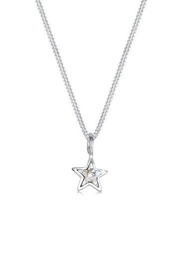 Elli Kette mit Anhänger »Stern Kristalle 925 Sterling Silber«, Sterne