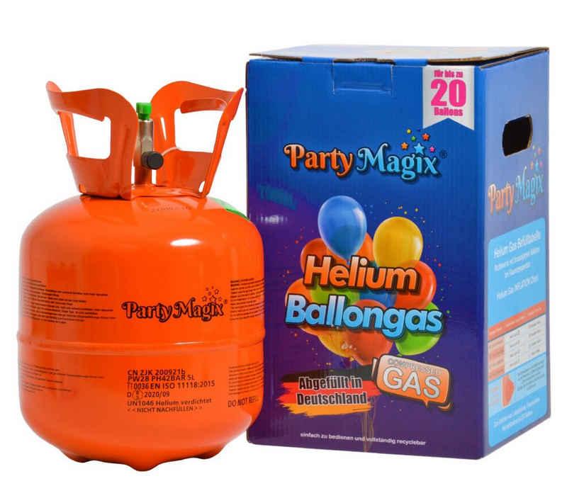 PartyMagix Luftballon »PartyMagix Heliumgasflasche Heliumgas für 20 und 30 Ballons Helium Flasche Gasflasche Balloon Gas Ballongas Einweg«