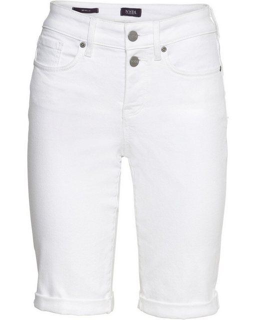 Hosen - NYDJ Jeansshorts »Bermuda Briella« › weiß  - Onlineshop OTTO