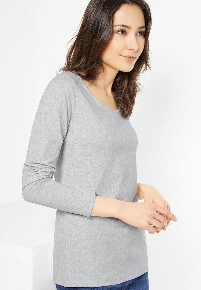 Street One Langarmshirt Basic Style Iva in cyber grey melange