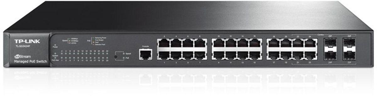 TP-Link Switch »T2600G-28MPS 24-Port Gigabit L2 POE 4x SFP«