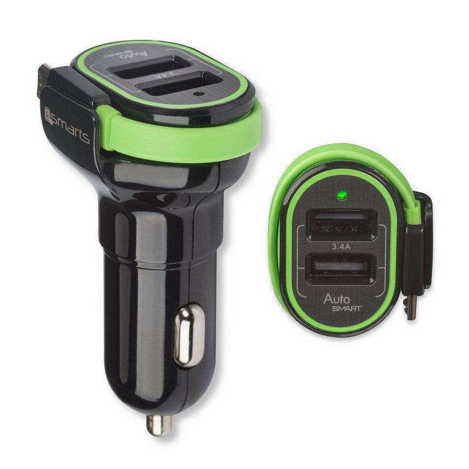 4Smarts Lader »Multiport Dual USB & Micro-USB KFZ-Lader« in Schwarz-Grün