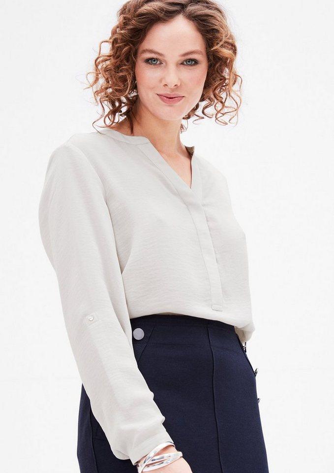 TRIANGLE Blusenshirt aus Chiffon in kit