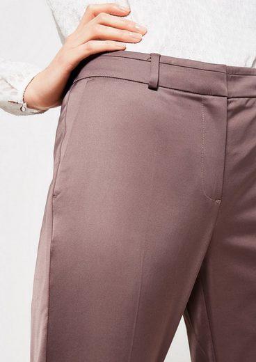 COMMA Matt glänzende Satinpants mit tollen Details