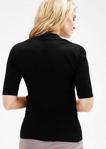 s.Oliver BLACK LABEL Stretch-Shirt mit V-Neck