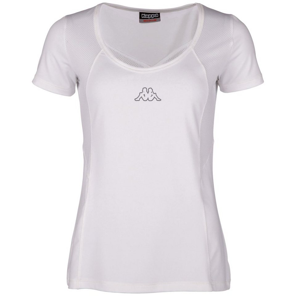 KAPPA T-Shirt »PAMINA« in white