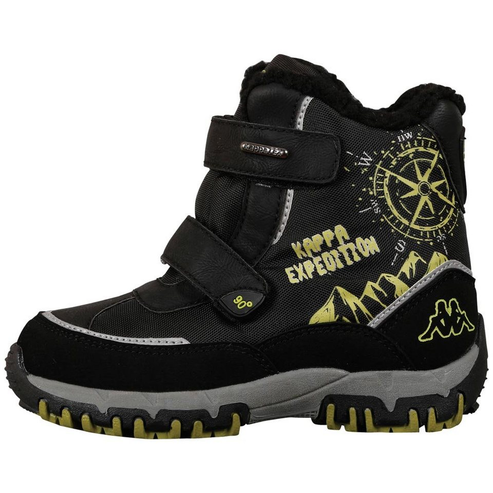 KAPPA Stiefel »DENTON II TEX TEENS« in black/lime