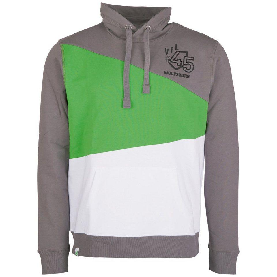 KAPPA Fan Artikel »VFL Wolfsburg Unbranded Hooded Sweatshirt« in gunmetal