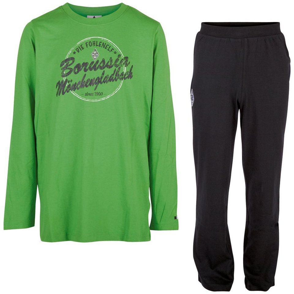KAPPA Schlafanzug »Borussia Mönchengladbach Pyjama Kids« in black