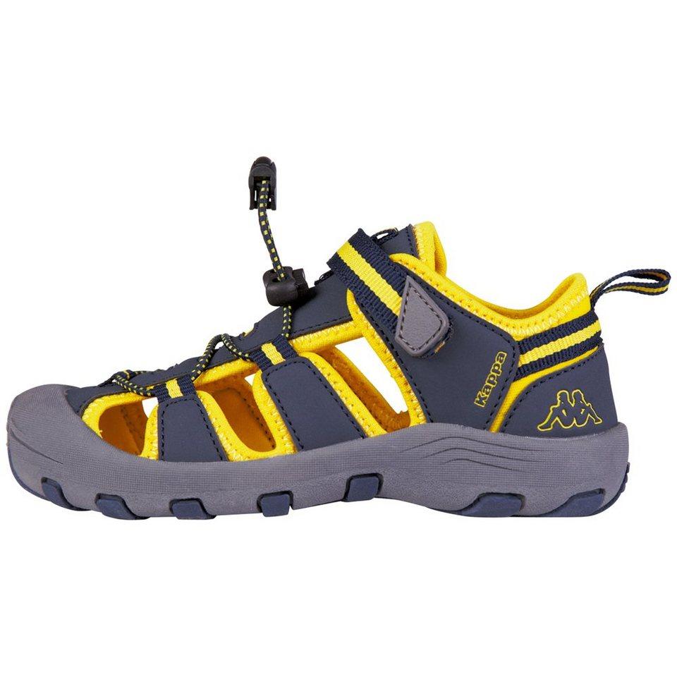 KAPPA Sandale »DOWNEY TEENS« in navy/yellow