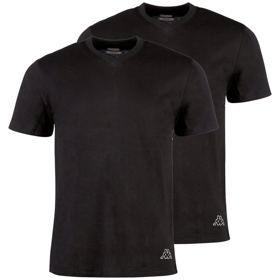 KAPPA T-Shirt Doppelpack V-Ausschnitt »EINAR 2« in black