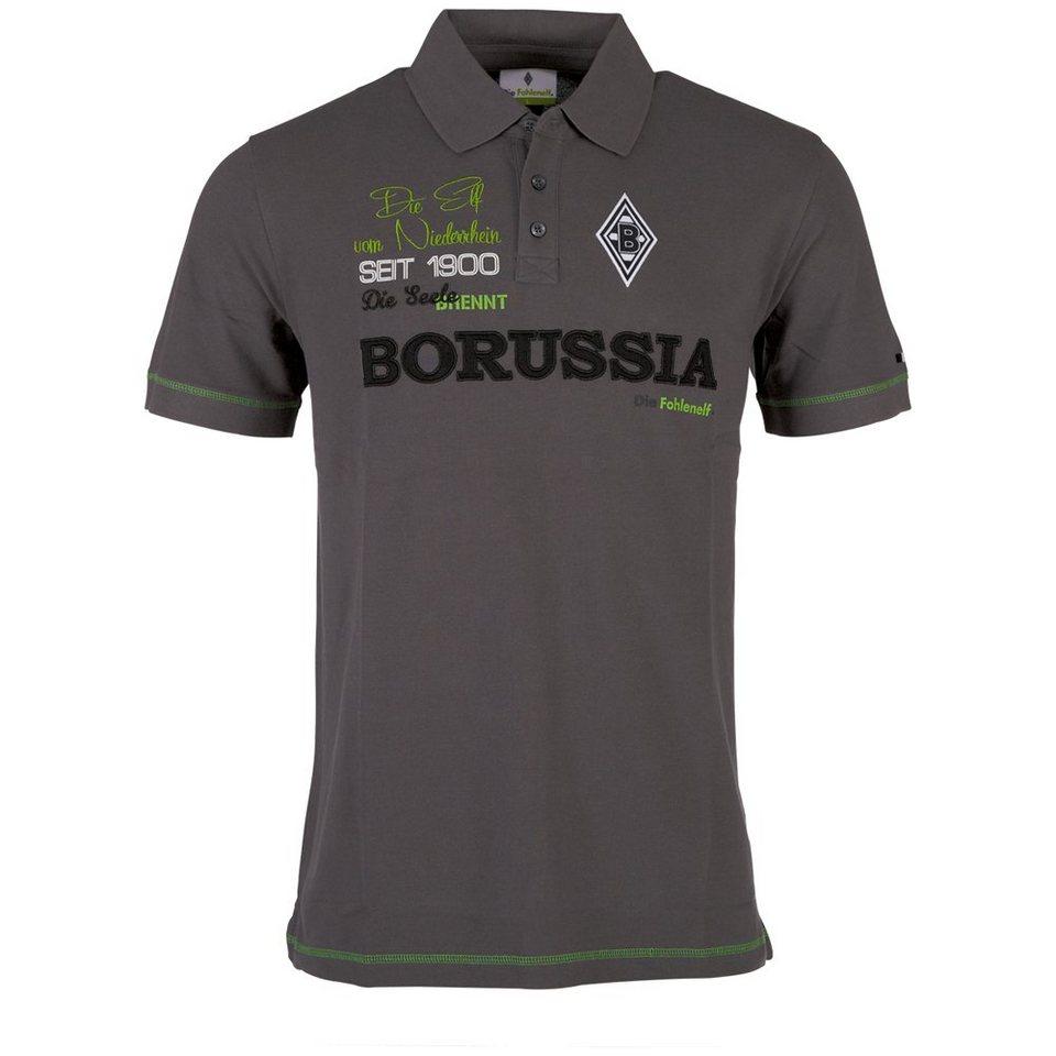 KAPPA Poloshirt »Borussia Mönchengladbach Poloshirt« in magnet grey