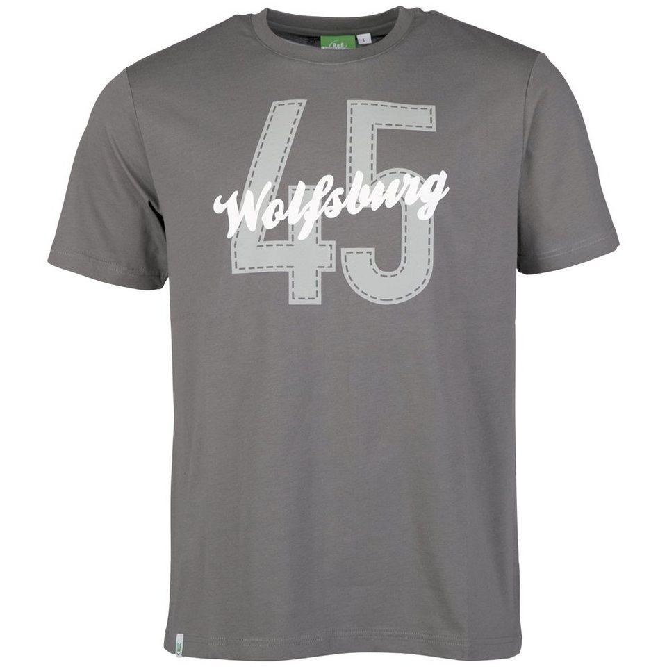 KAPPA Fan Artikel »VFL Wolfsburg Unbranded T-Shirt « in gunmetal