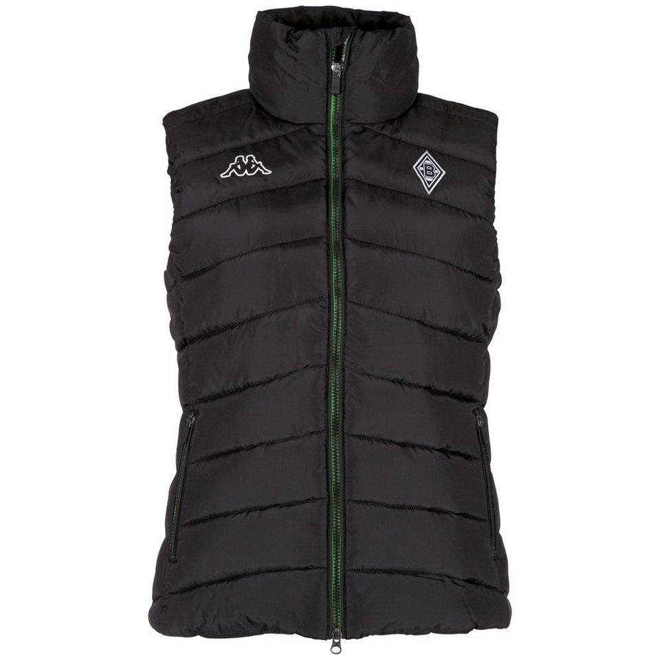 KAPPA Weste Damen »Borussia Mönchengladbach Weste Ladies 16-17« in black