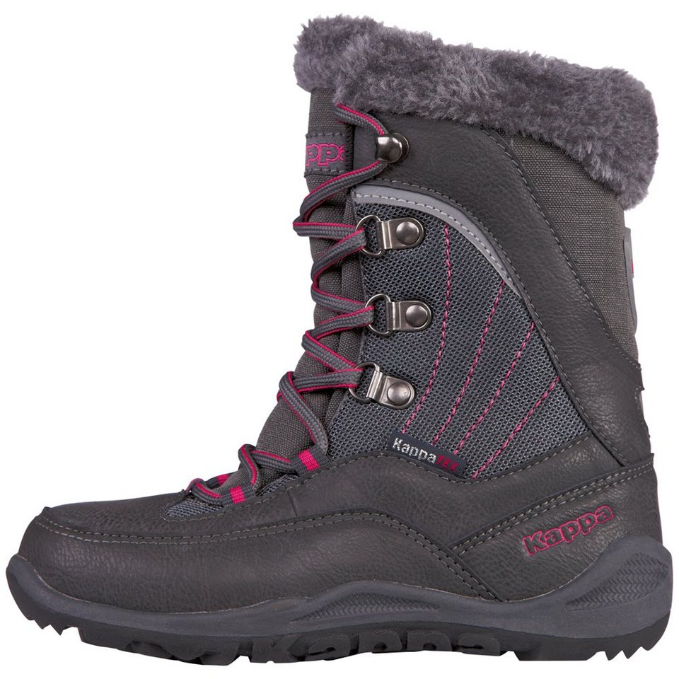 KAPPA Stiefel »CRYSTAL TEX KIDS« in anthra/pink