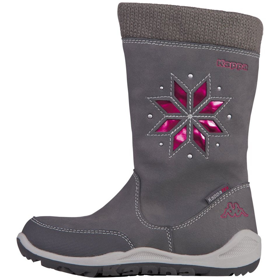 KAPPA Stiefel »LULLABY TEX KIDS« in anthra/pink