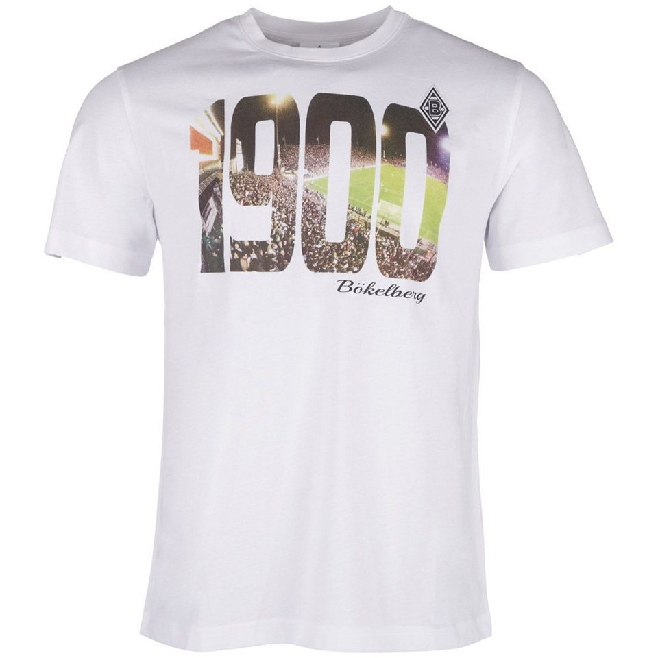 KAPPA T-Shirt »Borussia Mönchengladbach T-Shirt« in white