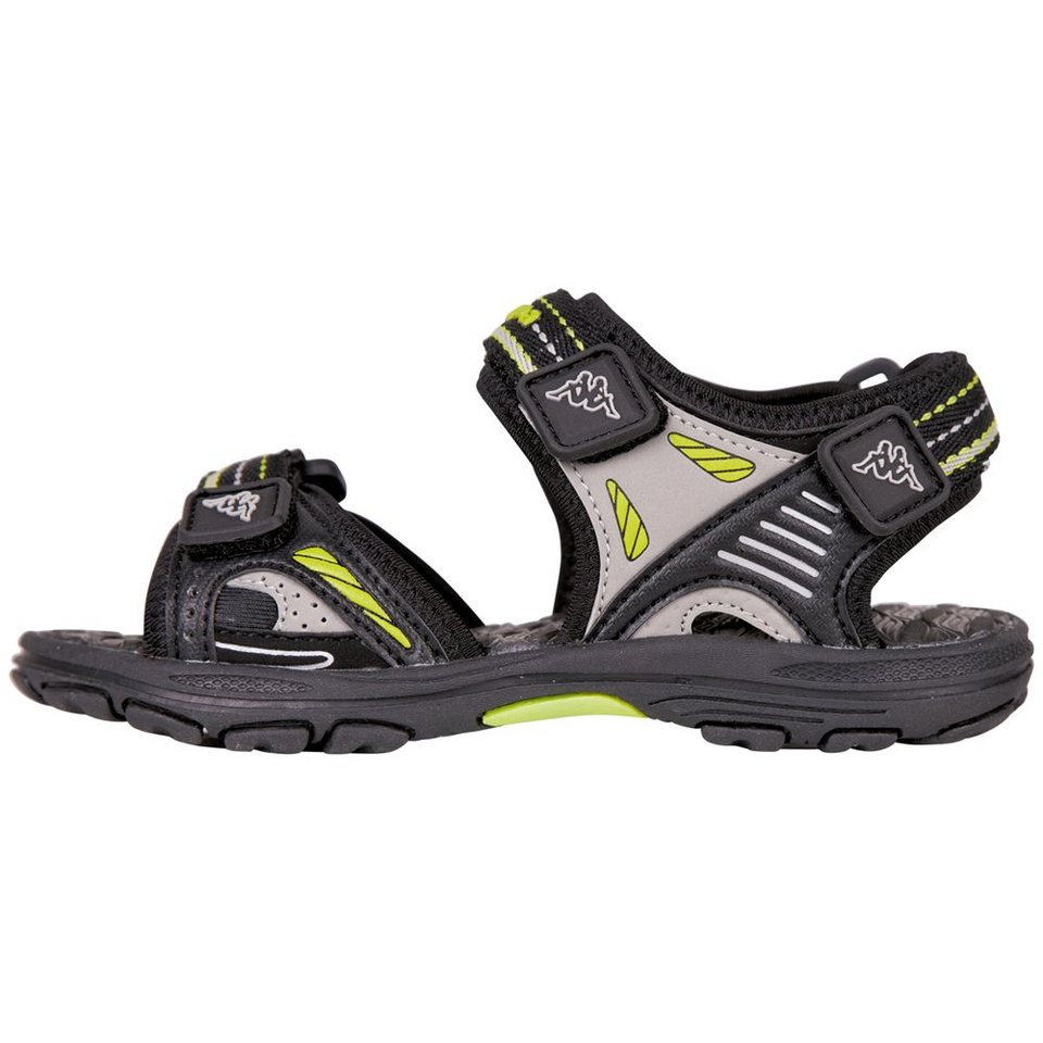 KAPPA Sandale »FLOAT TEENS« in black/lime