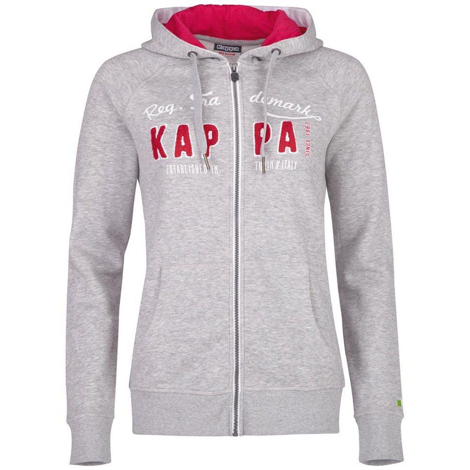 KAPPA Sweatjacke »WENDULA« in grey melange